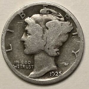 1925 MERCURY DIME   G             FREE COMBINED SHIPPING