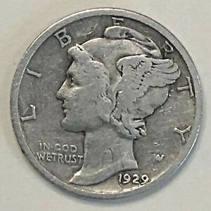 1929 MERCURY DIME   F / VF            FREE COMBINED SHIPPING