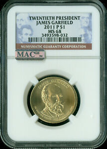 Click now to see the BUY IT NOW Price! 2011 P JAMES GARFIELD DOLLAR NGC MAC MS68 PQ MAC SPOTLESS  ..