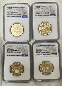 Click now to see the BUY IT NOW Price! 2019 S 4 COIN AMERICAN INNOVATION PROOF SET NGC PF70 ULTRA CAMEO EARLY RELEASES
