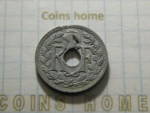 CINS HME CRACKED COIN ERROR 1941 NAZI OCCUPIED FRANCE 10 CENTIMES LOTST13