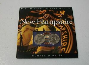 COINS OF AMERICA NEW HAMPSHIRE 2 PACK P@D STATE QUARTERS.
