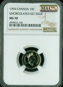 Click now to see the BUY IT NOW Price! 1994 CANADA 10 CENTS NGC MAC MS 70 SPOTLESS SOLO FINEST   ..