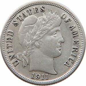 UNITED STATES DIME 1911 D T121 229