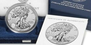 AMERICAN EAGLE 2019 ONE OUNCE SILVER ENHANCED REVERSE PROOF COIN 19XE UNOPENED