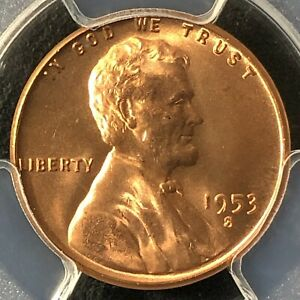 1953 S 1C RD LINCOLN WHEAT ONE CENT  PCGS MS66RD     35719759