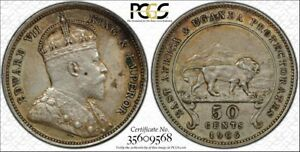 Click now to see the BUY IT NOW Price! BRITISH EAST AFRICA 1906 EDWARD VII FIFTY CENTS 50 CENTS. PCGS AU 50.