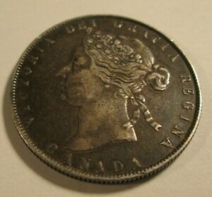 1888 CANADA 50 CENTS SILVER    AWE