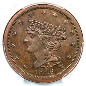 Click now to see the BUY IT NOW Price! 1846 RES PCGS PR 65 BN CAC REV OF 1840 BRAIDED HAIR HALF CENT COIN 1/2C