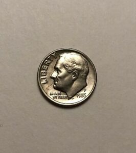 1985 P ROOSEVELT DIME  ERROR COIN:  DOUBLED OBVERSE AND REVERSE.