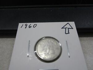 1960   CANADA SILVER DIME   CANADIAN 10 CENT COIN