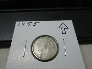 1955   CANADA SILVER DIME   CANADIAN 10 CENT COIN