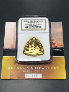 Click now to see the BUY IT NOW Price! 2006 BERMUDA $30.00 GOLD SEA VENTURE   ONE OF 1ST 300 STRUCK GEM PROOF W/ BOOK