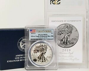 Click now to see the BUY IT NOW Price! 2019 S AMERICAN SILVER EAGLE ENHANCED REVERSE PROOF SILVER DOLLAR PCGS GRADE 70