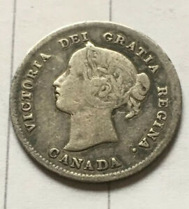 1898 FIVE CENTS SILVER NICE  DATE LOW MINTAGE KEY VICTORIA CANADA 5
