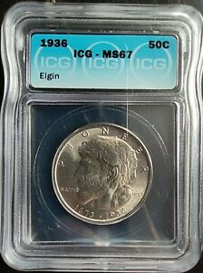 Click now to see the BUY IT NOW Price! 1936 50 CENTS ELGIN ICG MS67
