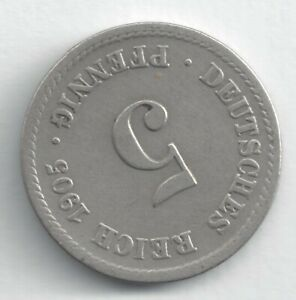 GERMANY 5 PFENNIG 1905 A ALMOST UNCIRCULATED COIN