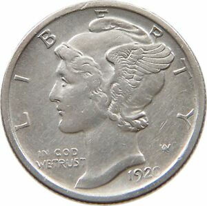 UNITED STATES DIME 1920 D T121 199