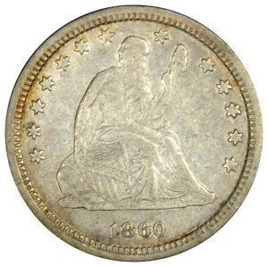 1860 SEATED QUARTER   NICE XF PRICED RIGHT