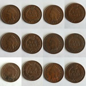 6 INDIAN HEAD PENNY LOT  4 WITH FULL LIBERTY  1899 1902 1902 1905 1906 1907