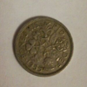GREAT BRITAIN 1955 SIXPENCE 6 PENCE COIN  C193