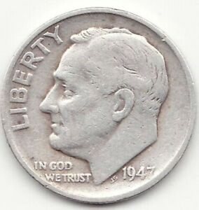 1947 S ROOSEVELT SILVER DIME