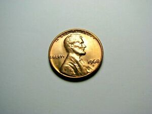 1968 S  LINCOLN MEMORIAL CENT <> RED BRILLIANT UNCIRCULATED   BU