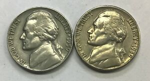 1959 P & D  JEFFERSON NICKEL   CIRCULATED CONDITION    1309