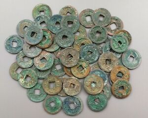 11 MIXED ANCIENT CHINESE NORTH SONG BRONZE COINS 960 1127  5 VARIETIES BIG SALE