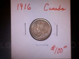 Click now to see the BUY IT NOW Price! 1916 10C CANADA 10 CENT  AU