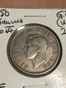 COLLECTIBLE 1950 GREAT BRITAIN 2 SHILLINGS KING GEORGE