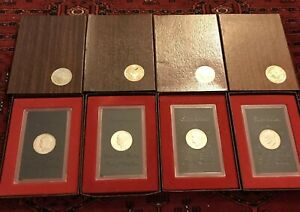 SET/4 1971 1974S EISENHOWER SILVER DOLLAR PROOF BROWN BOX US MINT