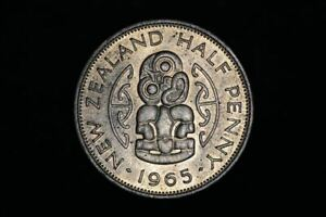 NEW ZEALAND   1965   HALF PENNY   KM23   BRIGHT UNCIRCULATED  OM A2145
