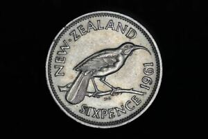 NEW ZEALAND   1961   SIXPENCE   KM26   GOOD LY FINE  OM A2234