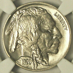 1920 BUFFALO NICKEL UNCIRCULATED OBV DAMAGE NGC EXCELLENT LUSTER