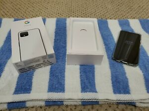 GOOGLE PIXEL 4 G020I   64GB   CLEARLY WHITE    VERIZON  UNLOCKED    USED