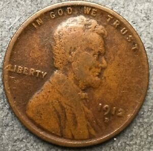 1912 D  LINCOLN WHEAT CENT PENNY   FREE SHIP. B199