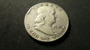 1949 D  FRANKLIN HALF DOLLAR AV CONDITION