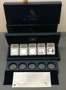 2011 P W S 25TH ANNIVERSARY SILVER EAGLE 5CN SET NGC PF70 MS70 EARLY RELEASE OGP