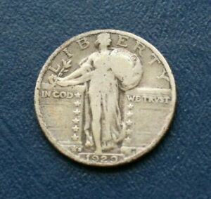 1929 S SILVER LIBERTY STANDING QUARTER    VERY GOOD DETAILS