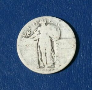 1928 D SILVER LIBERTY STANDING QUARTER    ABOUT GOOD DETAILS
