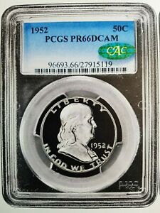 Click now to see the BUY IT NOW Price! 1952 PROOF FRANKLIN HALF DOLLAR PCGS PR66 DCAM CAC    TOMASKA EVEREST SELECTION