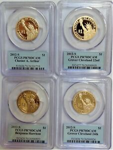 Click now to see the BUY IT NOW Price! 2012 S  PRESIDENTIAL $1 DOLLAR SET  PCGS PR70DCAM