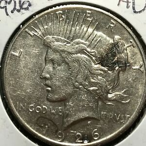 1926 S US. SILVER PEACE DOLLAR /  ALMOST UNCIRCULATED