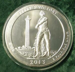 2013 PERRY'S VICTORY OHIO AMERICA THE BEAUTIFUL 5 OUNCE .999 FINE SILVER QUARTER
