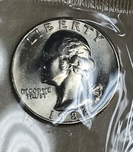 1986 D WASHINGTON QUARTER  BU  226