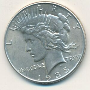 1935 PEACE SILVER DOLLAR INCREDIBLY NICE GENTLY HANDLED DOLLAR SHIPS FREE  INV:1
