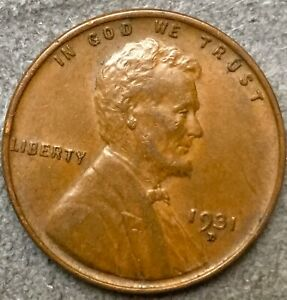 1931 D  LINCOLN WHEAT CENT PENNY   HIGH GRADE   FREE SHIP. B254