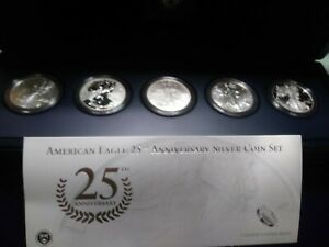 2011 AMERICAN SILVER EAGLE 25TH ANNIVERSARY SET