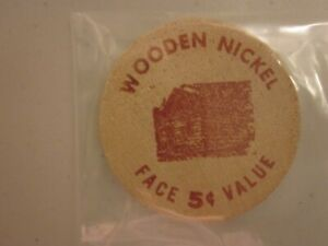 1964 WOODEN NICKEL COIN 5 CENTS   OHIO   FARMER'S AND SAVINGS BANK 1